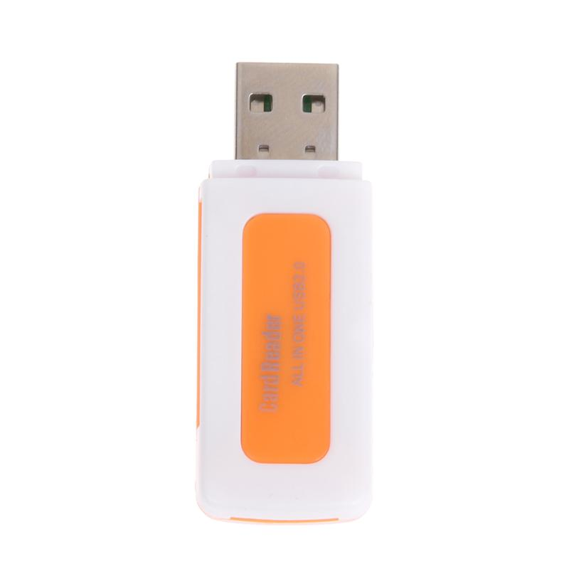 Mini All in One USB 2.0 Smart Card Reader SD/MMC/TF/Micro MS M2 Card Reader 4 Card Slot Memory Cardreader for MS Pro Duo SDHC кардридер usb 1 sdhc ms 2 tf sd [151 01 01 all in 1 card reader 01