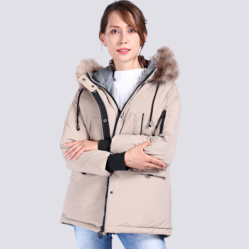 2019 New High Quality Raccoon Fur Winter Jacket Women Plus Size Casual Bio Fluff Thick Parka Hooded Warm Winter Coats Outerwear