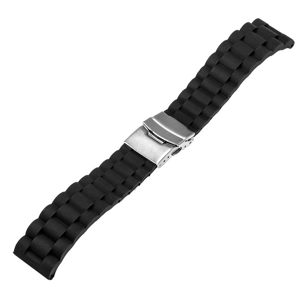 Bracelet en caoutchouc de silicone 20mm Bracelet pour Motorola Moto - Accessoires montres - Photo 2