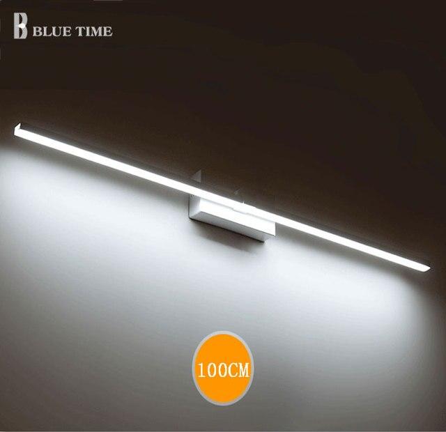 BLU TEMPO 120 cm 100 cm 80 cm 60 cm LED Luce Frontale A Specchio ...