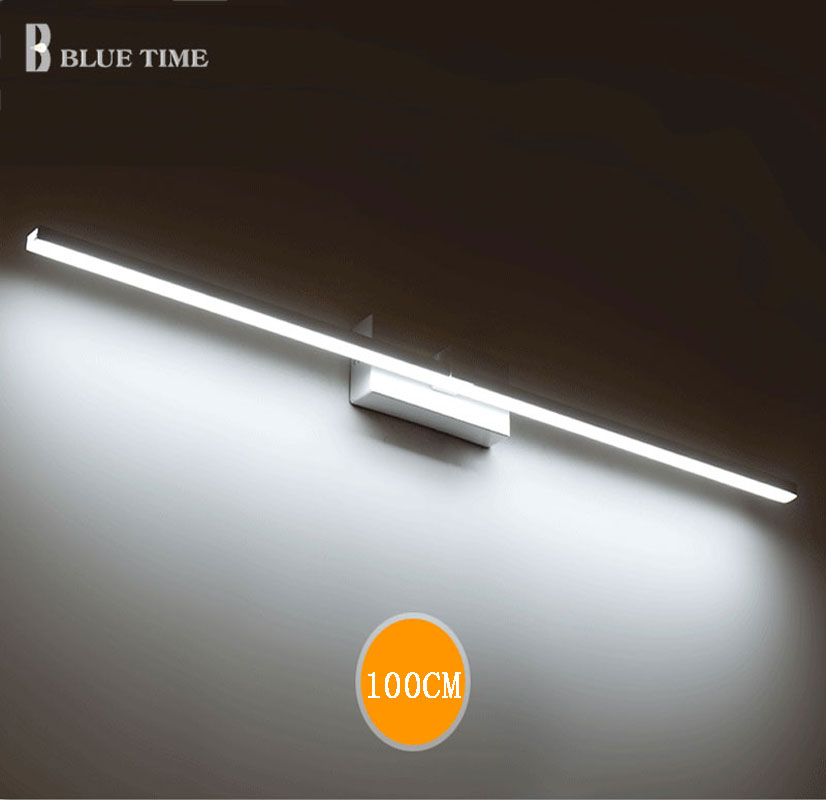 BLUE TIME 120cm 100cm 80cm 60cm LED Mirror Front Light Bathroom Led Wall Light Wall Mounted Bathroom Mirror Wall Sconces Lamp 3w smd 5050 led wall sconces picture mirror front light warm whitefixture bathroom lamp with switch