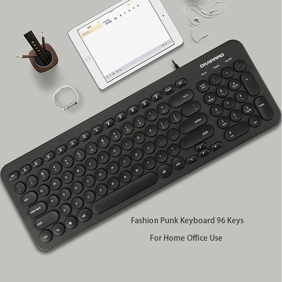 Ultra thin Keyboard Multimedia Wired USB 96 Keys Office Slim English ...