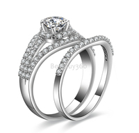 0 5ct 4 Prongs Ring 925 Sterling Silver Jewelry SONA Classic Synthetic Diamond Ring Simulated Ring