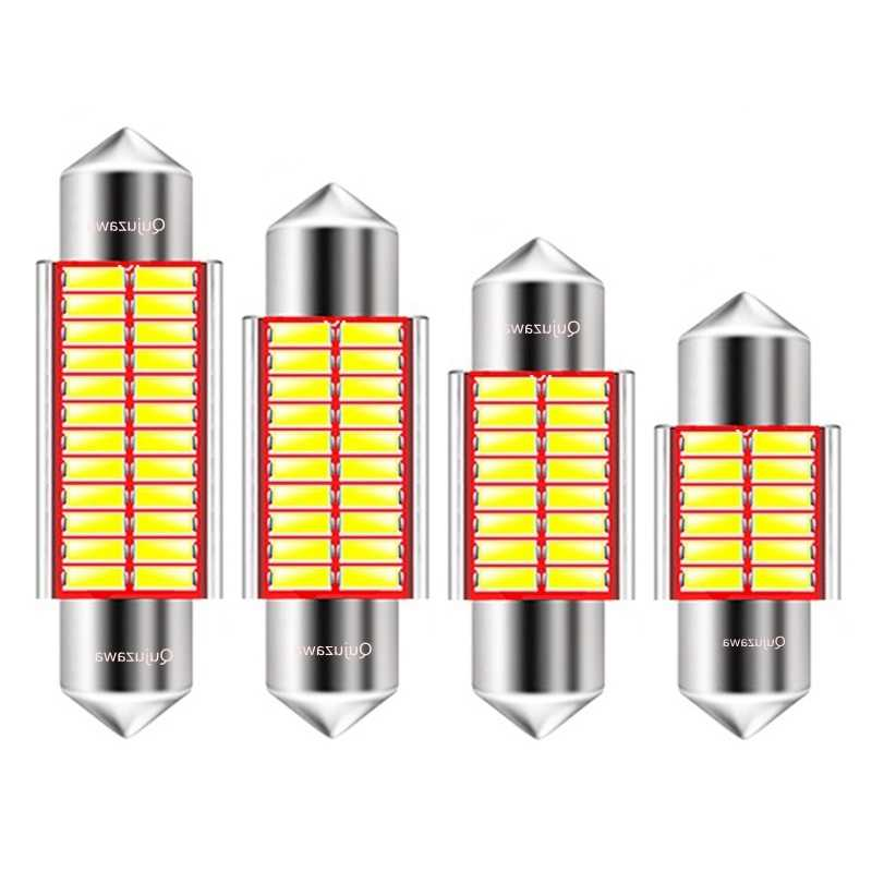 31mm 36mm 39mm 41mm C5W C10W 12 16 20 24 SMD 4014 LED Festoon Light CANBUS NO ERROR Auto Interior Dome lamp Car Reading Bulb 12V