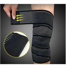 1PC Convenience Elastic Bandage Tape Sport Knee Support Strap Shin Guard Compression Protector For Ankle Leg Wrist Wrap(China)