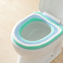 Hot Sale Comfortable Soft Toilet Seat Cover Cute Coral Velvet Lid Top Warmer Washable Bathroom Product Pedestal Pan Cushion Pads