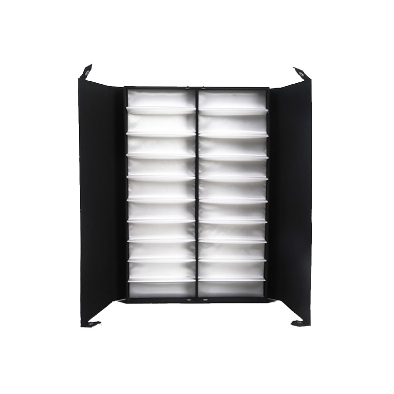 Mordoa Best Glasses Display Case 20 Pairs Storage Box With Foldable Lid for Sunglasses Glasses Box/Rack (Black + White) mordoa 12pcs glasses storage display case box eyeglass sunglasses optical display organizer frames tray 3d glasses display rack