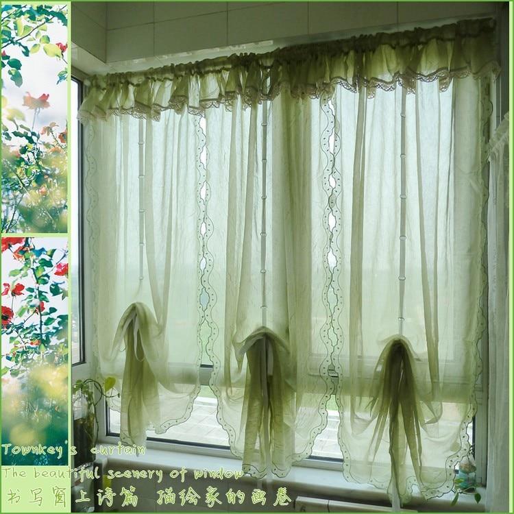extraordinary cafe curtain living room   Dark Green Curtain for Living Room, Ruffle Window ...