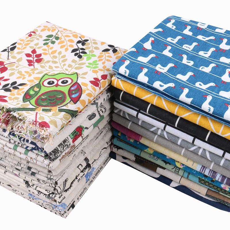 Nanchuang Série Dos Desenhos Animados Impresso Algodão Tecido De Linho Para DIY Costura Sofá Saco de Bonecas Mobiliário Almofada Material Da Tampa 45x45 cm/Pcs