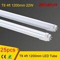 1200mm T8 Led Tube Light 22W  Wholesale 25pcs/lot Free Shipping, 120pcs SMD2835