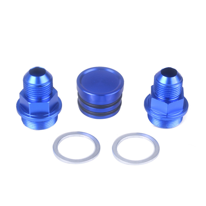Rear Block Breather Fittings Plug Compatible For Honda B16 B18C M28 To 10AN Car Styling