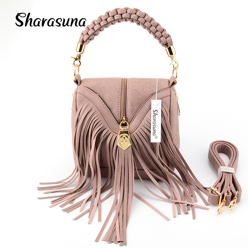Women Pu Leather Bag Female Fashion Shoulder Bags Famous Brand Crossbody Bags Fringe Tassel Women Messenger Bags herald fashion fashion tassel genuine leather women messenger bags crossbody bag real leather shoulder bag women handbag fringe sling bag black