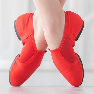 Image 3 - حار المهنية الرقص أحذية للنساء قماش الجاز أحذية رياضية لينة الباليه أحذية رقص الجاز أحذية الانزلاق على الرقص أحذية رياضية