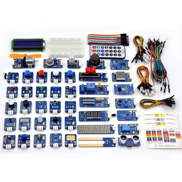 Adeept New 42 Sensor Modules Ultimate Sensor Starter Kit for Arduino UNO R3 Processing Free Shipping Book diykit  Electric kit