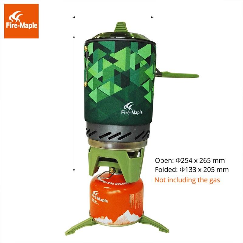 Fire Maple X2 En Plein Air Cuisinière À Gaz Brûleurs Compact Système de Cuisson Avec Échangeur De Chaleur Pot FMS-X2 Camping Trekking & Poêles - 2