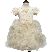 New Brand Flower Girl Christening Wedding Party Pageant Dress Gowns Child Bridesmaid Clothing