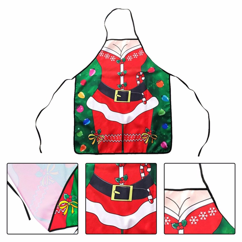 Christmas Bib Adults Bib Women Men Dinner Party Cooking Bib Easy Cleaning Kitchen Accessories Christmas Decoration