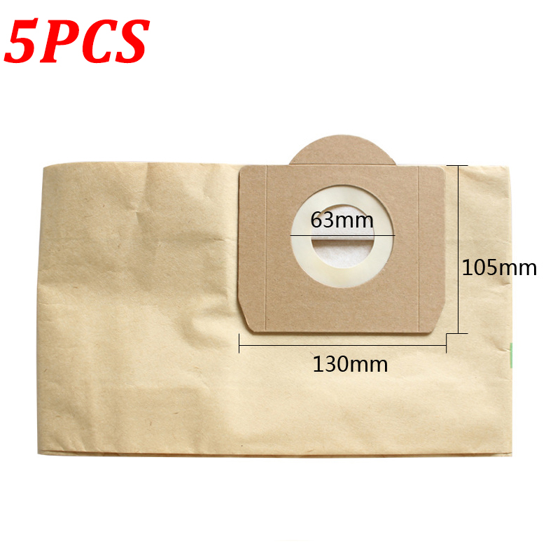 5PCS Replacement Dust Bag For Karcher MV3 WD3 WD3200 WD3300 A2204 A2656 Vacuum Cleaner Filter For Rowenta RB88 RU100 RU101
