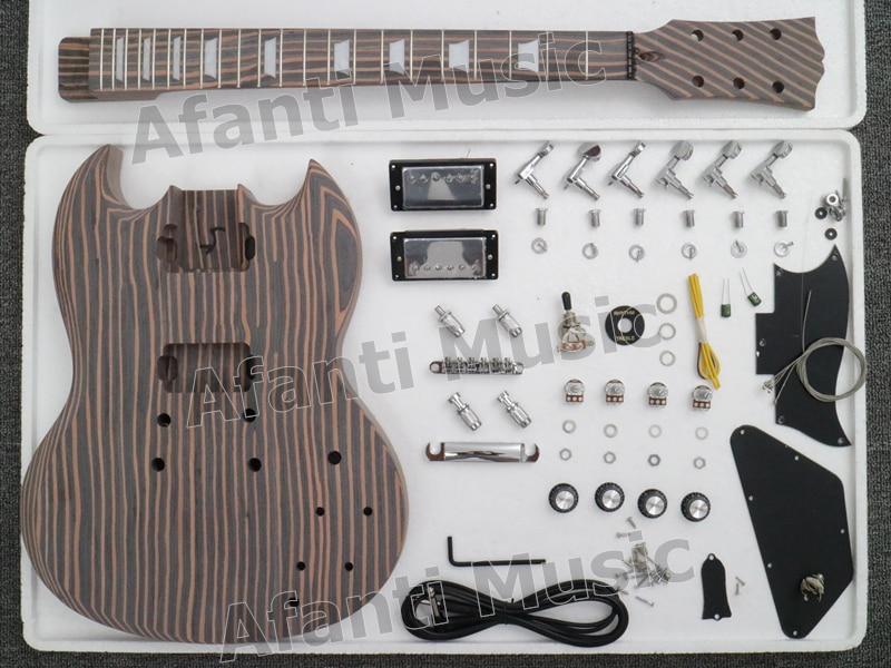 SG Zebra wood Electric guitar Kit of Afanti Music(ASG-529K) цена