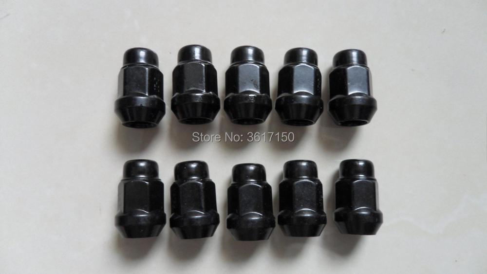 Negro tuercas hexagonales de aleación rueda 19mm Conjunto de 12 X 1.5 X M14
