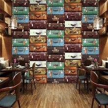 Papel pintado 3D para Pared De maleta europea De tamaño personalizado, Papel tapiz para sala, sofá, TV, fondo, Pared, decoración del hogar, Mural, Papel De Pared 3D