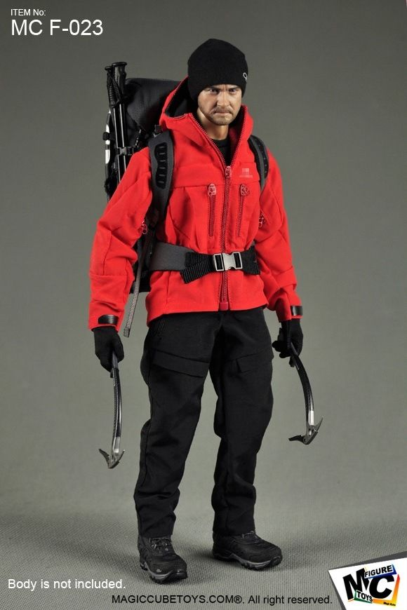 1/6 F-023 Outdoor Gear Clothing Suits + Head Set for 12 Male Action Figure Body Accessories