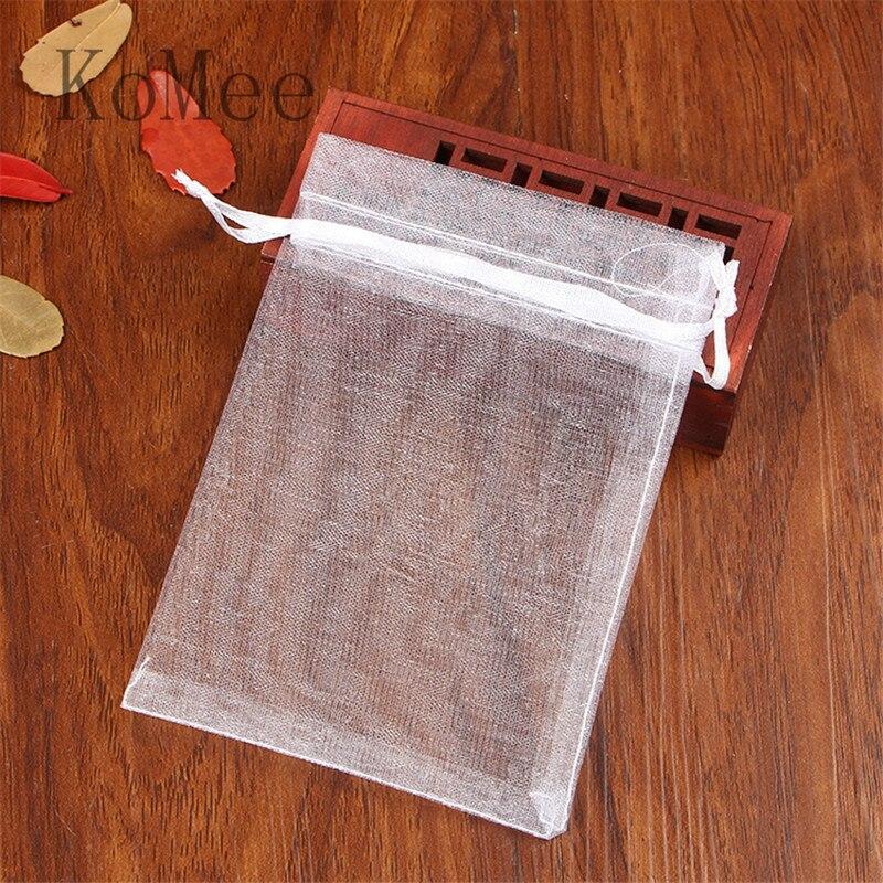 Hurtownie 500 sztuk/partia biały torby z organzy 17x23 cm duży na prezenty Boutique biżuteria torby do pakowania ślub dobrodziejstw prezent na Boże Narodzenie torba w Torby na prezenty i przybory do pakowania od Dom i ogród na  Grupa 1
