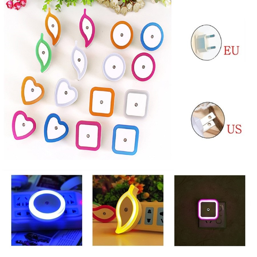 European Plug Intelligent Induction LED Night Light Sensor Control LED Lamp