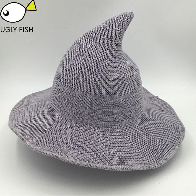 9bbbfa7cf89 ... Sun Hat for Women foldable Costume Ball Hat Cap Witch Hat For Xmas Cute  crochet women ...