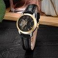 GEDIMAI модные женские часы-браслет лучший бренд класса люкс Женские автоматические механические часы с отверстиями Часы Relogio Feminino