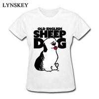 Eski İngilizce Koyun Köpek Desenler T-Shirt Yüksek Kalite Kadınlar 100% pamuk Üstleri bayan Hayvan Köpek T Shirt Artı Boyutu Tee-Shirt kızlar