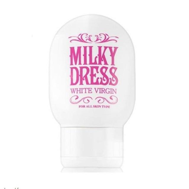 MILKY DRESS White Virgin 65g Face Cream brightening whitening Moisturizing Concealer Shrink Pores Skin Care Body Cream 2 In 1