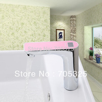 Temperature Display Automatic Hand Touch Tap Hot Cold Mixer Free Sensor Faucet Bathroom Sink Ys 89014