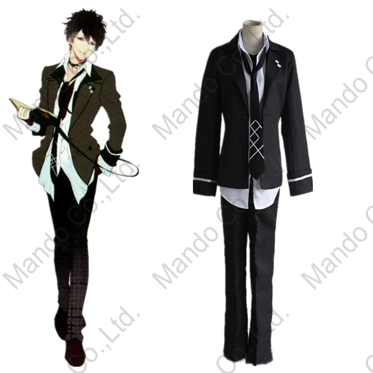 Anime DIABOLIK LOVERS mukami ruki Cosplay Costumes Mens suit Halloween outfit 5pcs set