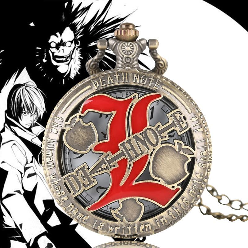 Death Note Necklace Red Double L Pendant Watches Men Women Japan
