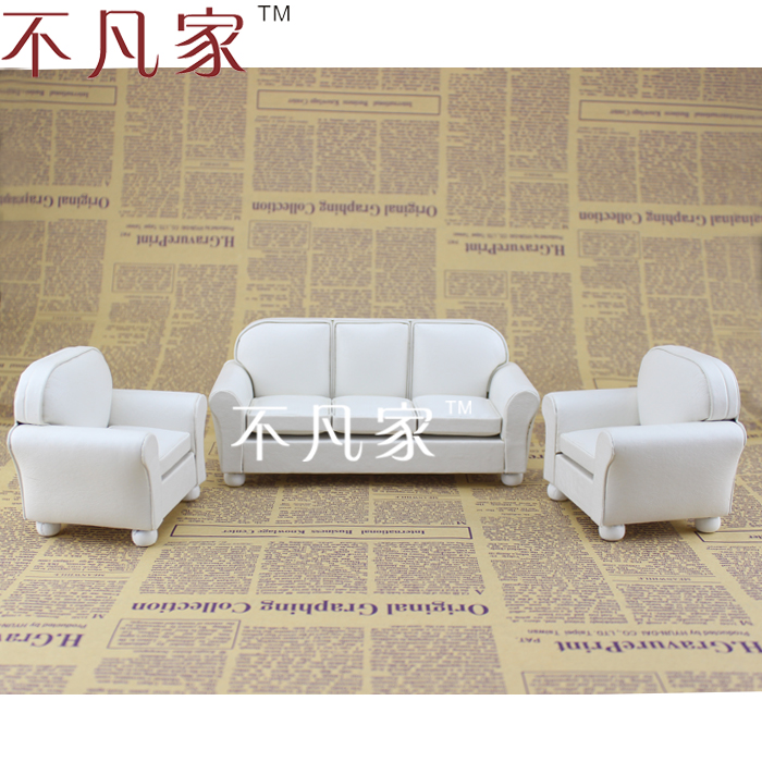 Fine 1/12 scale miniature furniture white well made handmade white living room set