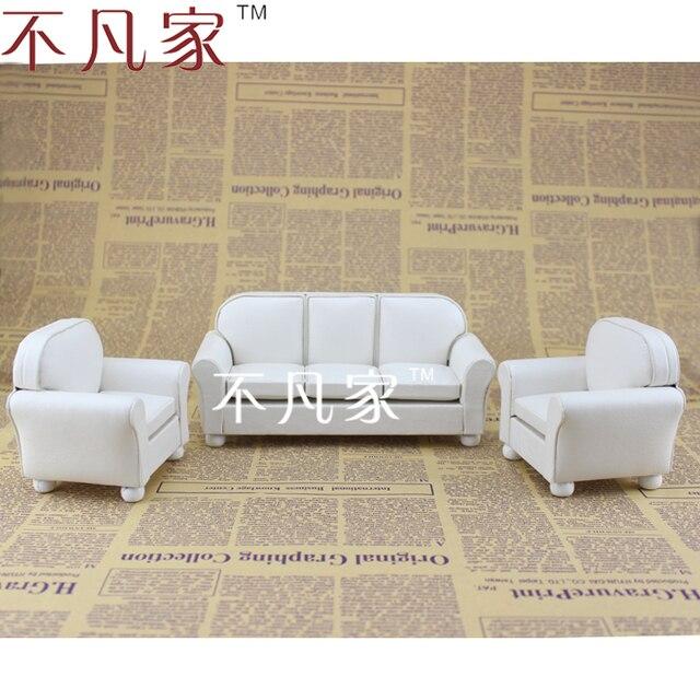 Fine 1/12 scale miniature furniture white well made handmade white living room set