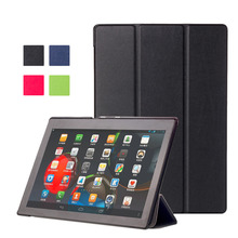 Professional Three Folding Case Cover Suitable For Lenovo TAB2 A10-30/A10-70F Tablet Screen Protection 4 Colors