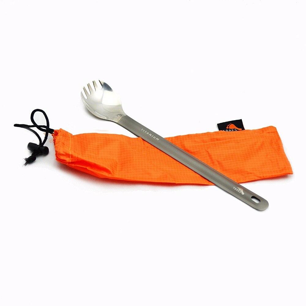 Toaks Ultralight Titanium Spoon Long Handle Spork With