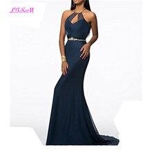Robe De Soiree 2019 New Arrivals Evening Dresses Halter Mermaid Formal Gowns Bead Sweep Train Prom Party Dress vestido elegante вечернее платье brand new 2015 vermelha elegante vestido 330184