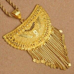 Image 4 - Anniyo מאוד גדול אפריקה תליון שרשראות לנשים זהב צבע האתיופית/ניגריה/קונגו/סודן/גאנה/תכשיטים ערבים #098506