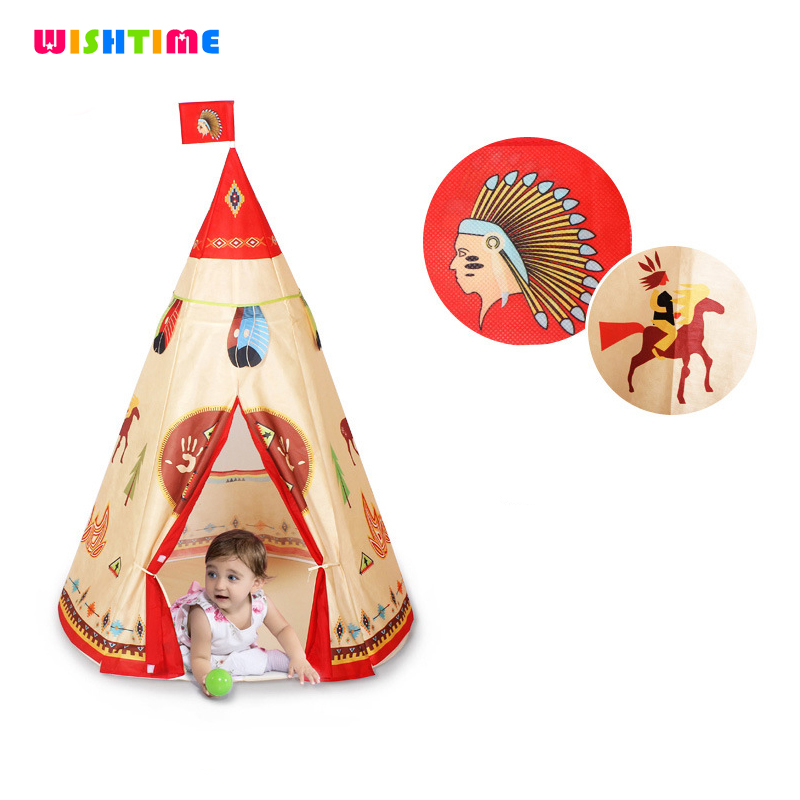 Indian Pattern Children Teepee Safety Portable Playhouse Kids Indoor Game Room Outdoor Tourist Baby Playpen Toys Tents Corralito yard indian pattern children toy tent teepees safety tipi portable playhouse kids teepee tents