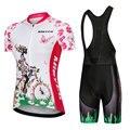 Одежда для велоспорта Pro Team  Женский комплект Джерси с коротким рукавом для велоспорта  спортивная одежда для MTB  быстросохнущая Женская оде...