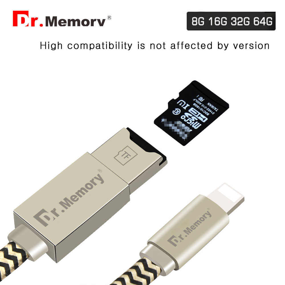 best sneakers d6a30 4b79d Dr.Memory For iPhone 5 5s 6s 7 8 7plus Micro SD Card Reader Multifunctional  Charging Cable For iPhone OTG Memory Card Reader