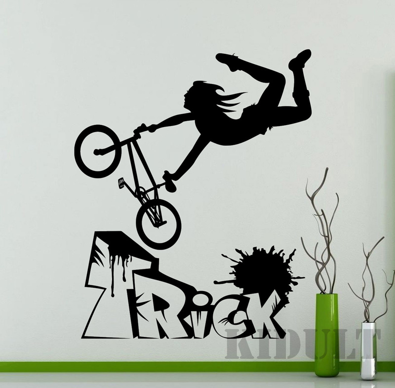 Household Items Home Decorations Extreme Sports Bike Design Wall