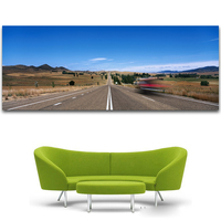 2017 FREE SHIPPING The Sunset Canvas Prints Painting Highway Landscape Painting Modern Canvas Art Picture Home