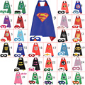 Kids Superhero Capes & Mask Costume Capes For Kids Superman Spiderman Superhero Cape for kids Halloween Birthday Party 70cm*70cm