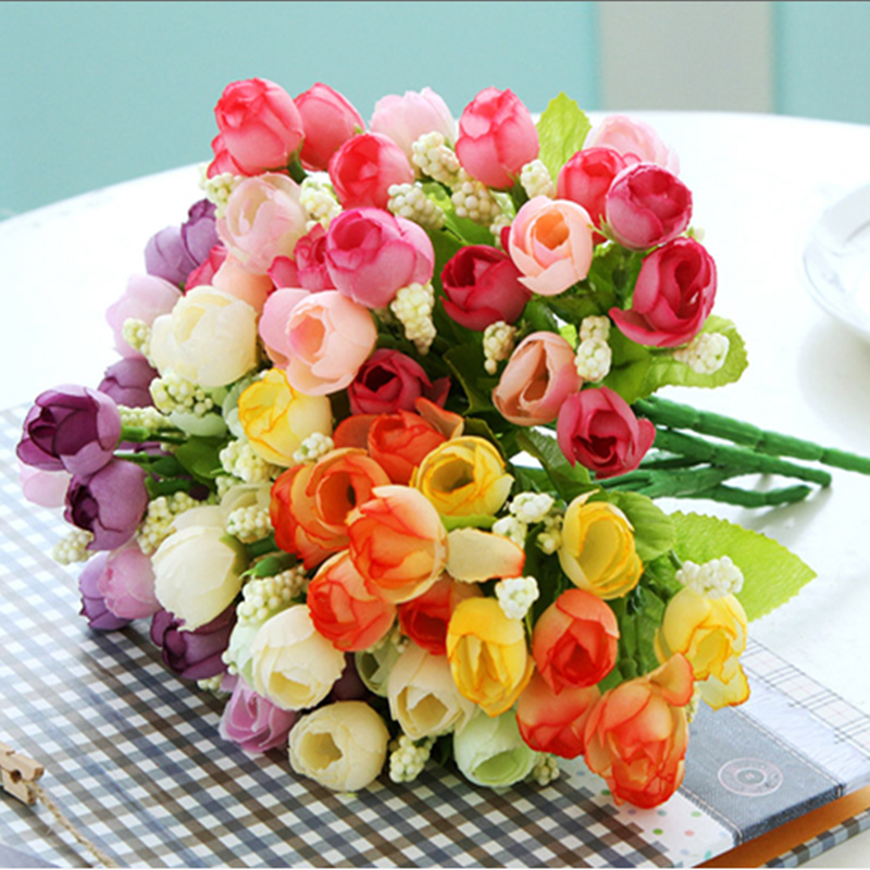 1Pcs Artificial Flowers for Wedding Decorations Fake Silk Rose ...