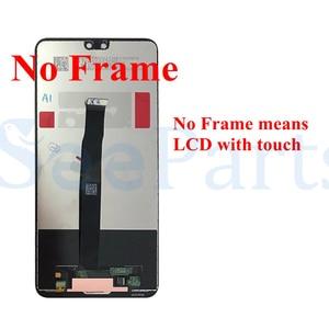 Image 5 - Para huawei p20 lcd tela de toque digitador assembléia eml l29 l22 l09 al00 para huawei p20 lcd com quadro peças reposição