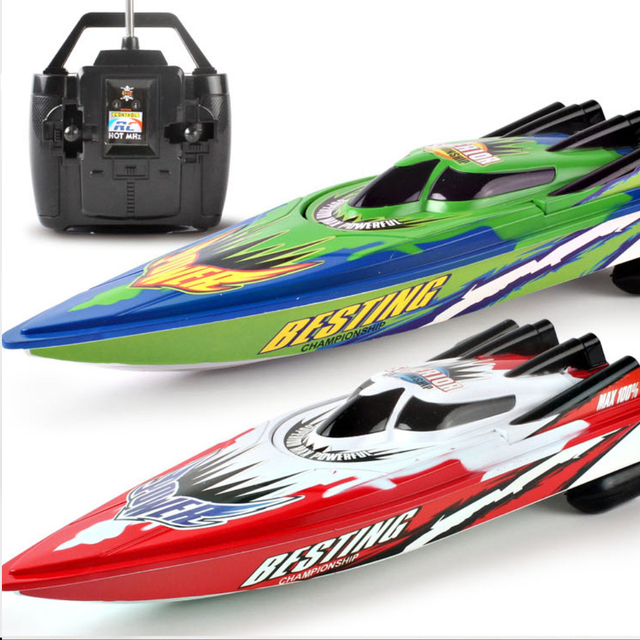 4 channels RC Boats Plastic Electric Remote Control Speed Boat  Twin Motor Kid Chirdren Toy  2